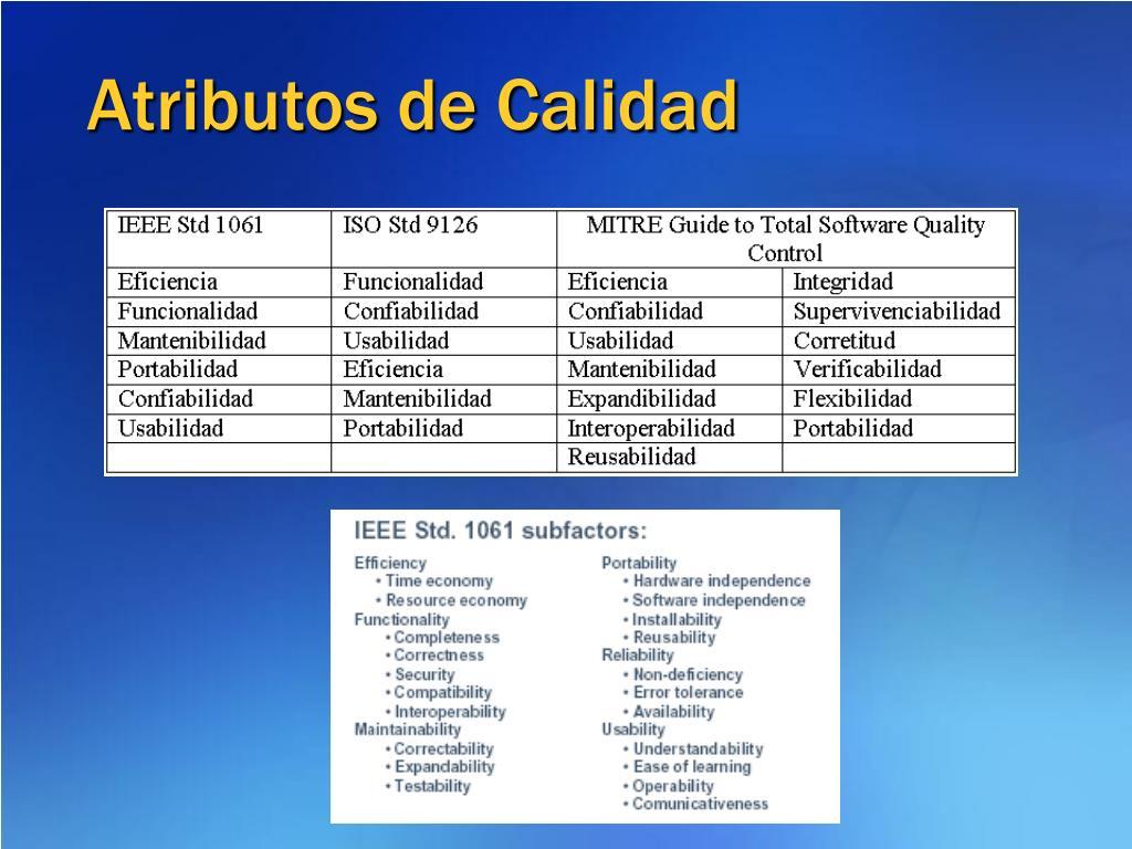 Atributos de Calidad