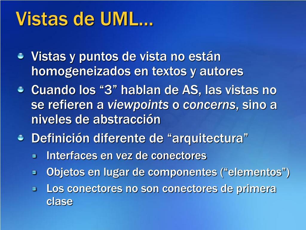 Vistas de UML…