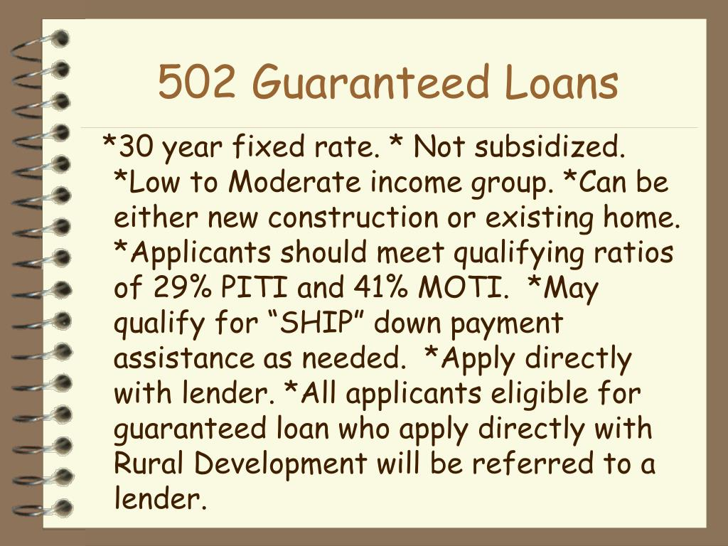 502 Guaranteed Loans