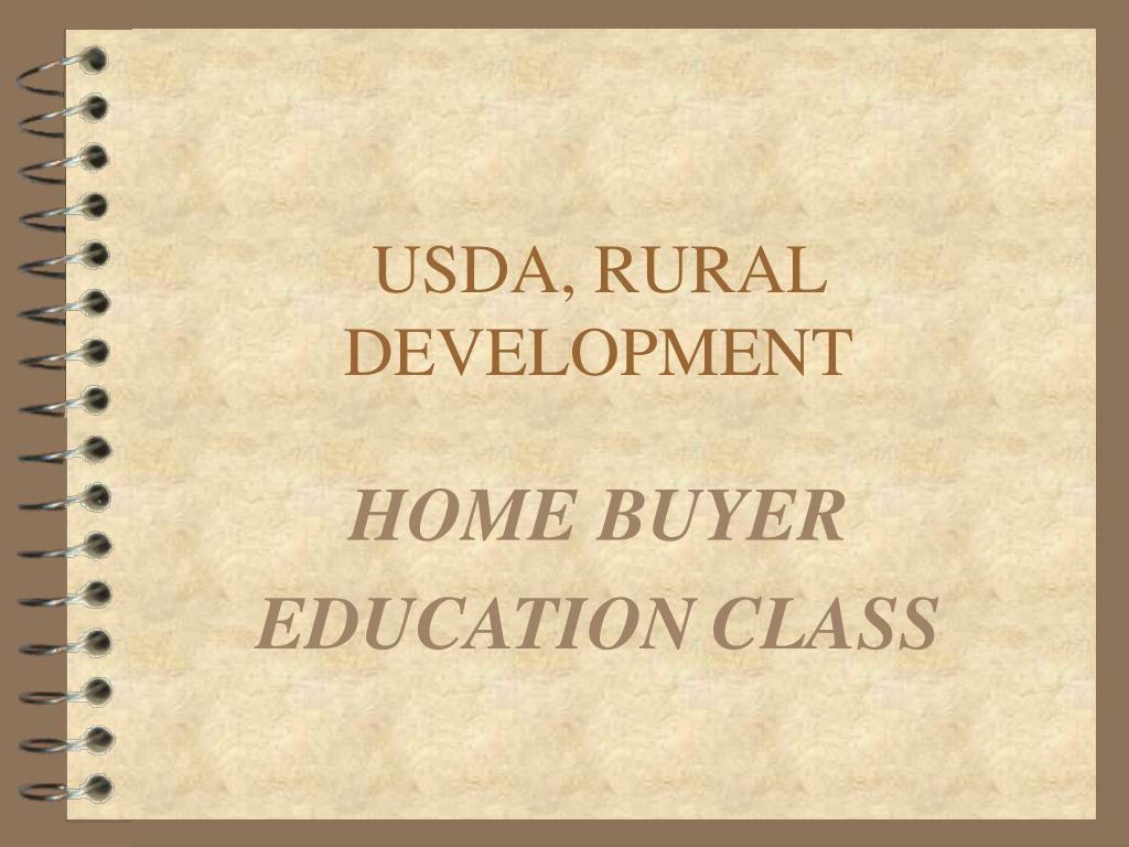 USDA, RURAL DEVELOPMENT