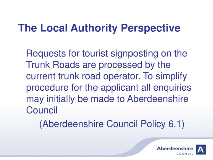 The local authority perspective3