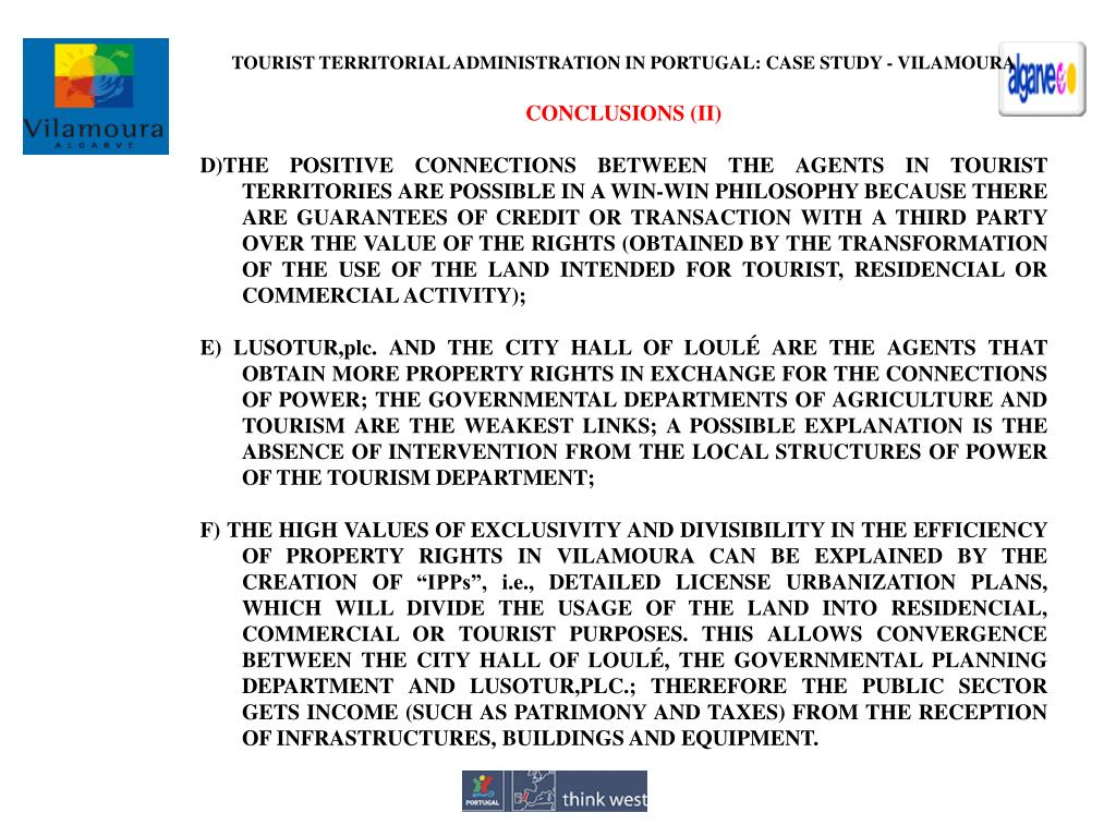TOURIST TERRITORIAL ADMINISTRATION IN PORTUGAL: CASE STUDY - VILAMOURA