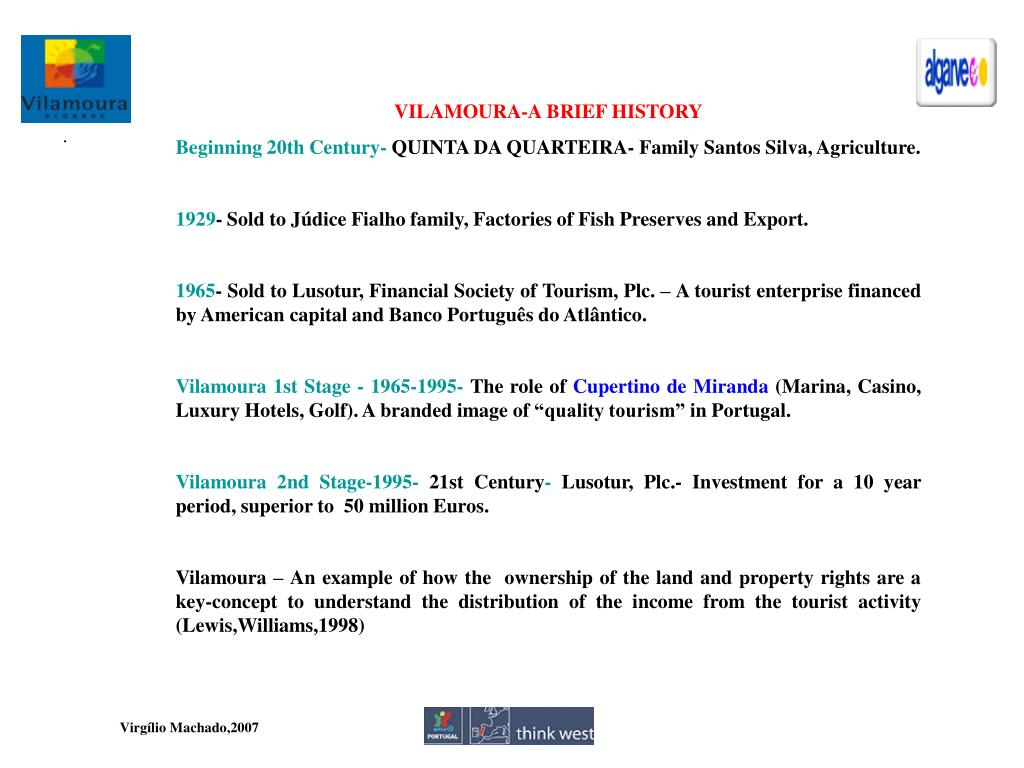 VILAMOURA-A BRIEF HISTORY
