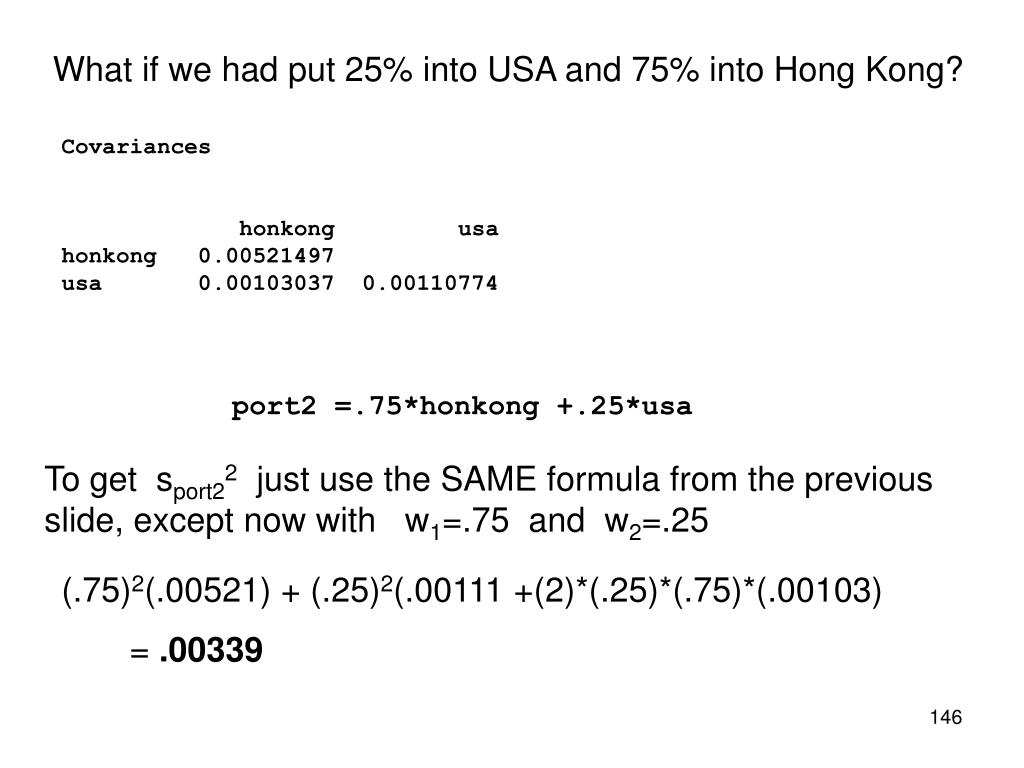 What if we had put 25% into USA and 75% into Hong Kong?