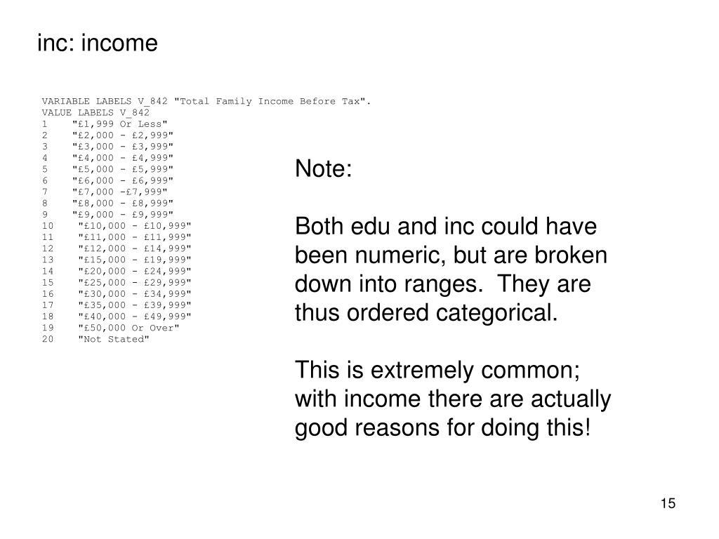 inc: income