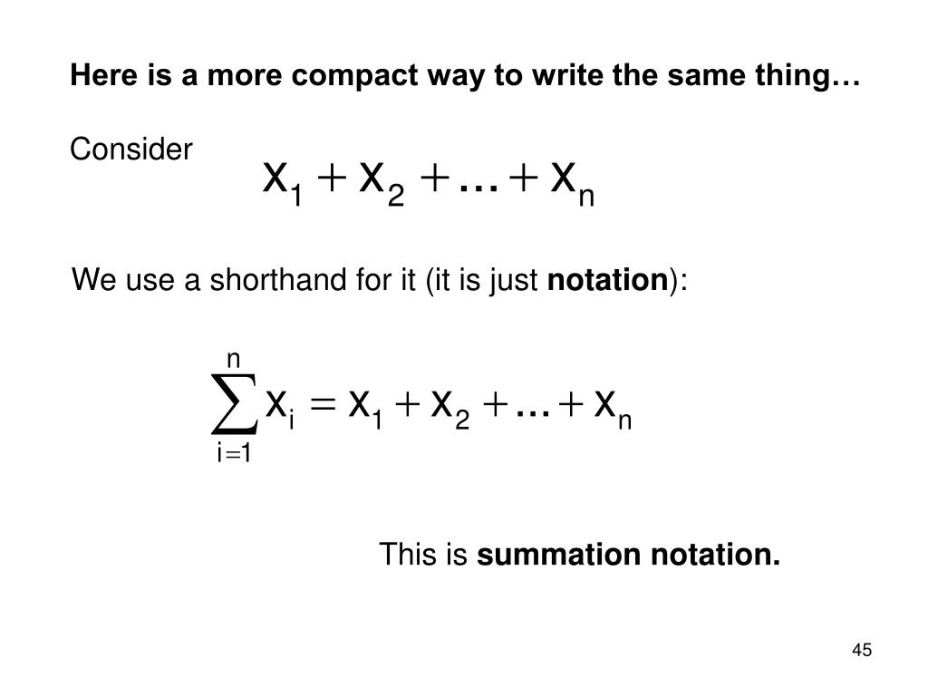 Here is a more compact way to write the same thing…