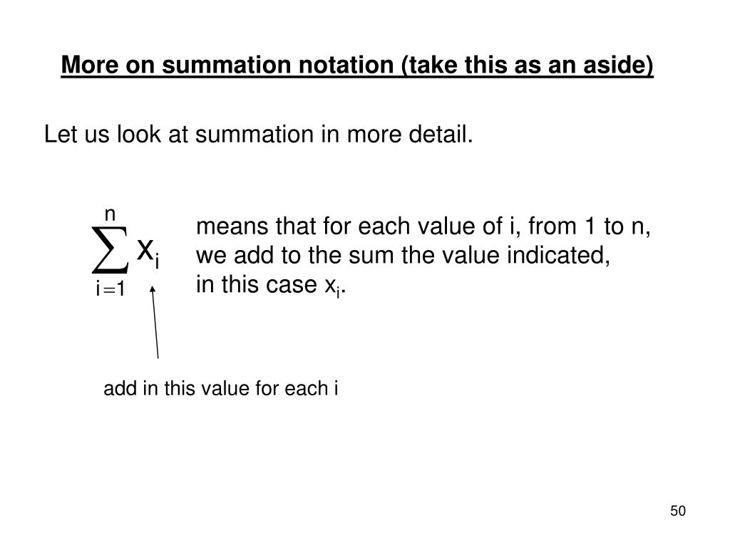 More on summation notation (take this as an aside)