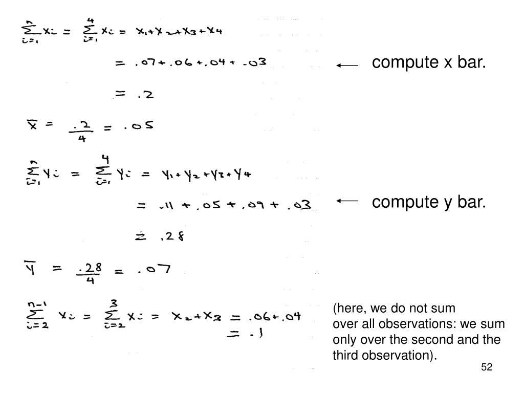 compute x bar.
