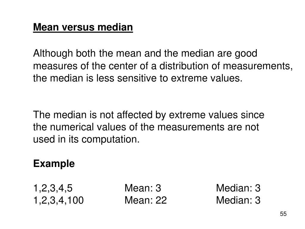 Mean versus median
