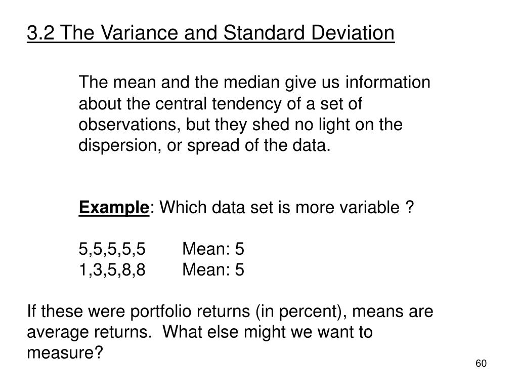 3.2 The Variance and Standard Deviation