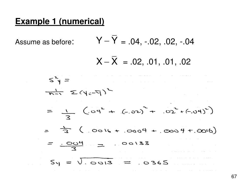 Example 1 (numerical)