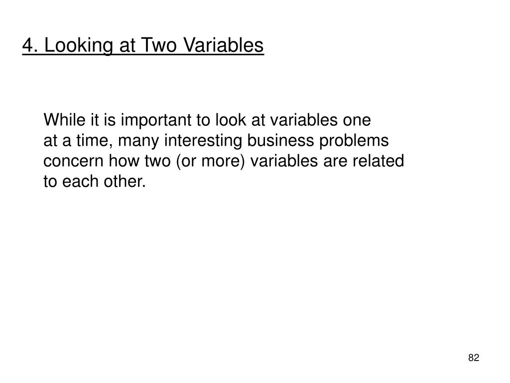 4. Looking at Two Variables
