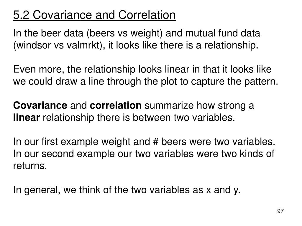 5.2 Covariance and Correlation