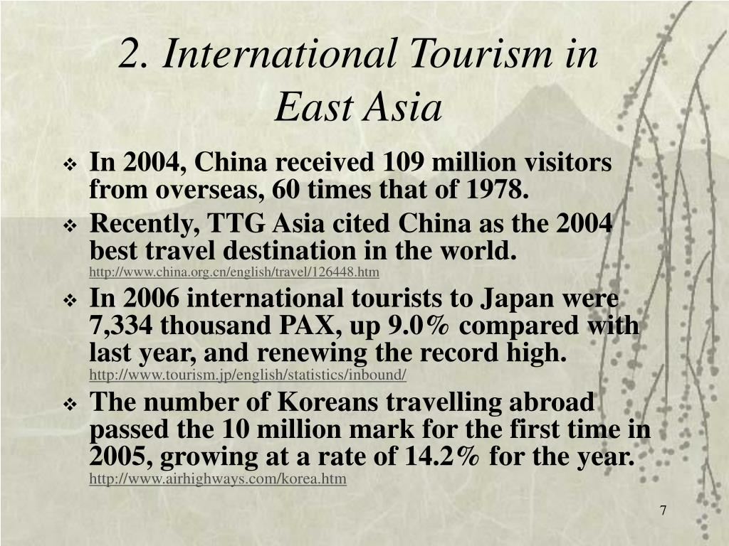 2. International Tourism in