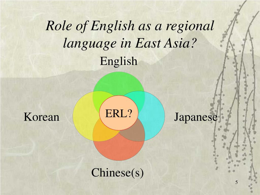 Role of English as a regional language in East
