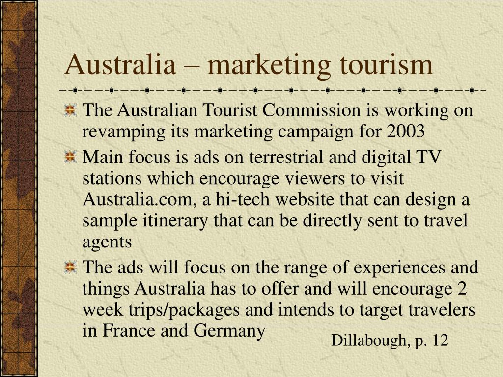 Australia – marketing tourism