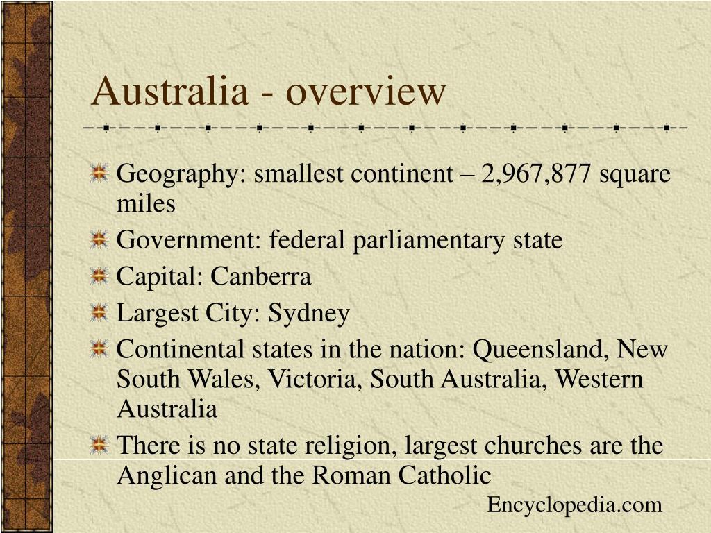 Australia - overview