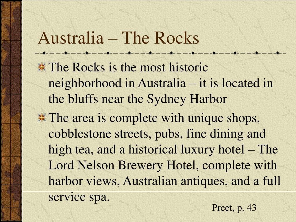 Australia – The Rocks