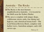 australia the rocks