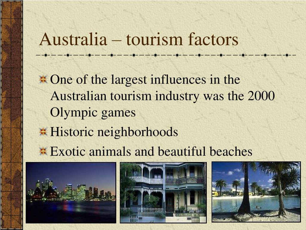 Australia – tourism factors