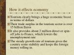 how it effects economy