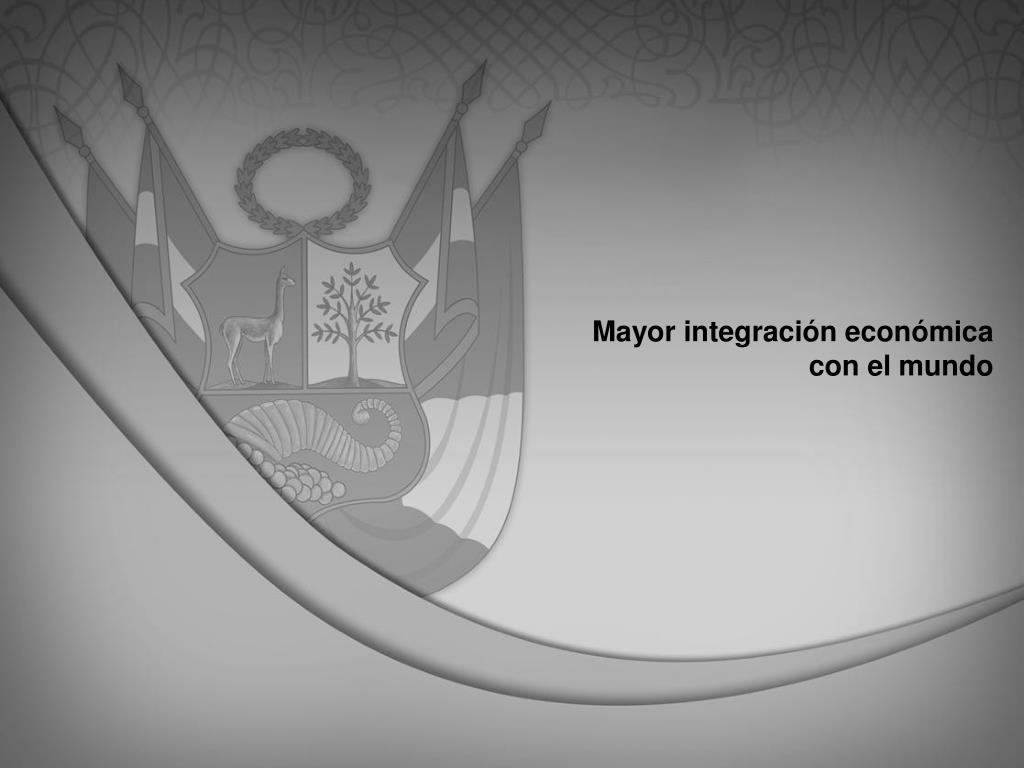 Mayor integración económica