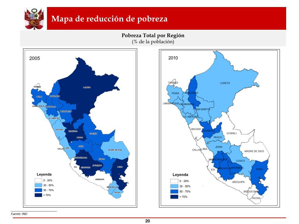 Mapa de reducción de pobreza