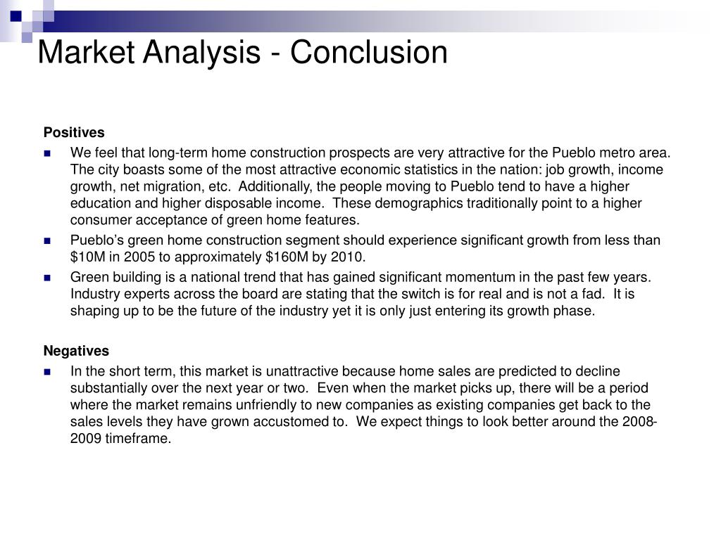 Market Analysis - Conclusion