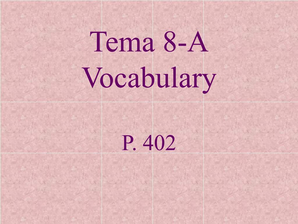 Tema 8-A