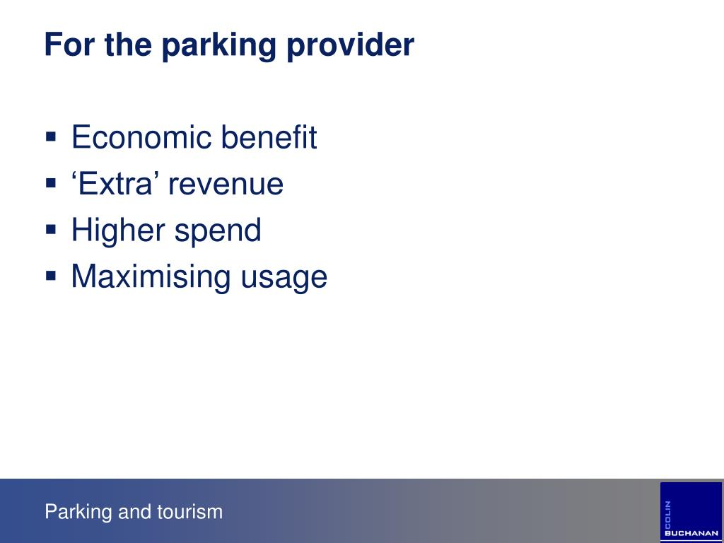 For the parking provider