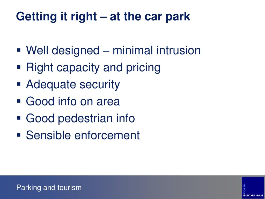 Getting it right – at the car park