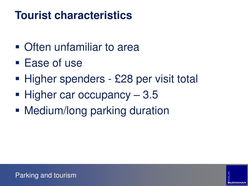 Tourist characteristics