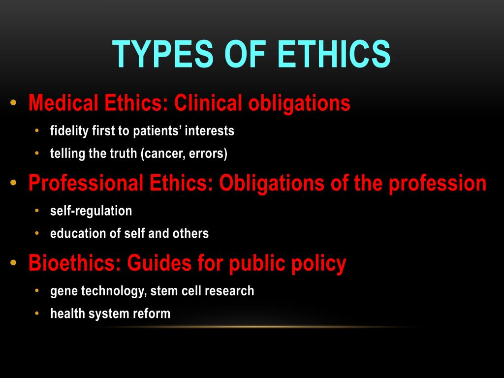 Medical Ethics: Clinical obligations