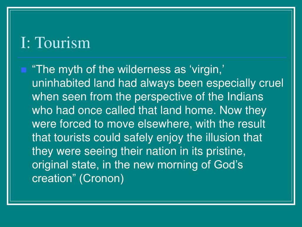 I: Tourism