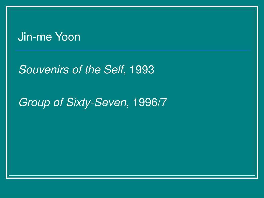 Jin-me Yoon