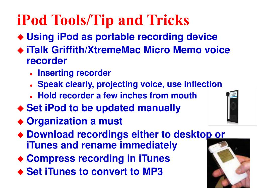 iPod Tools/Tip and Tricks