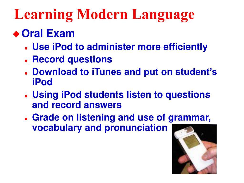 Learning Modern Language