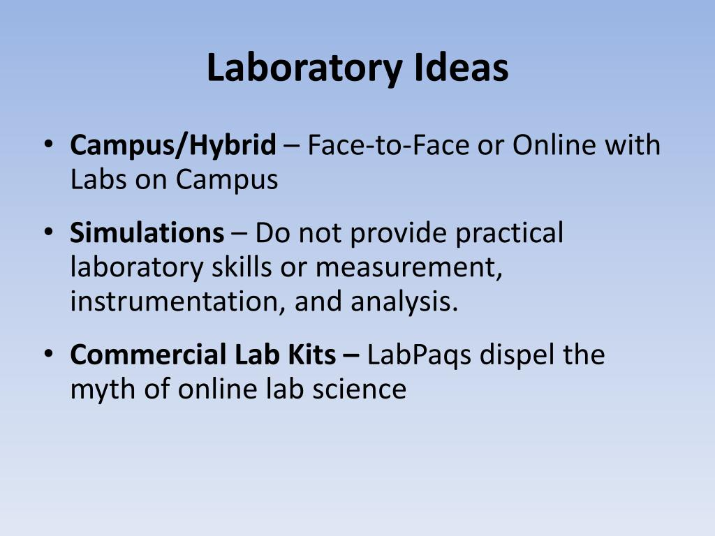 Laboratory Ideas
