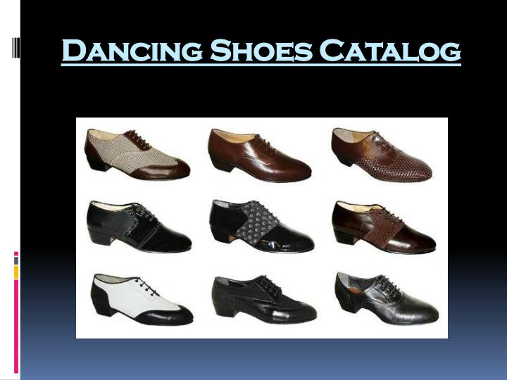 Dancing shoes catalog