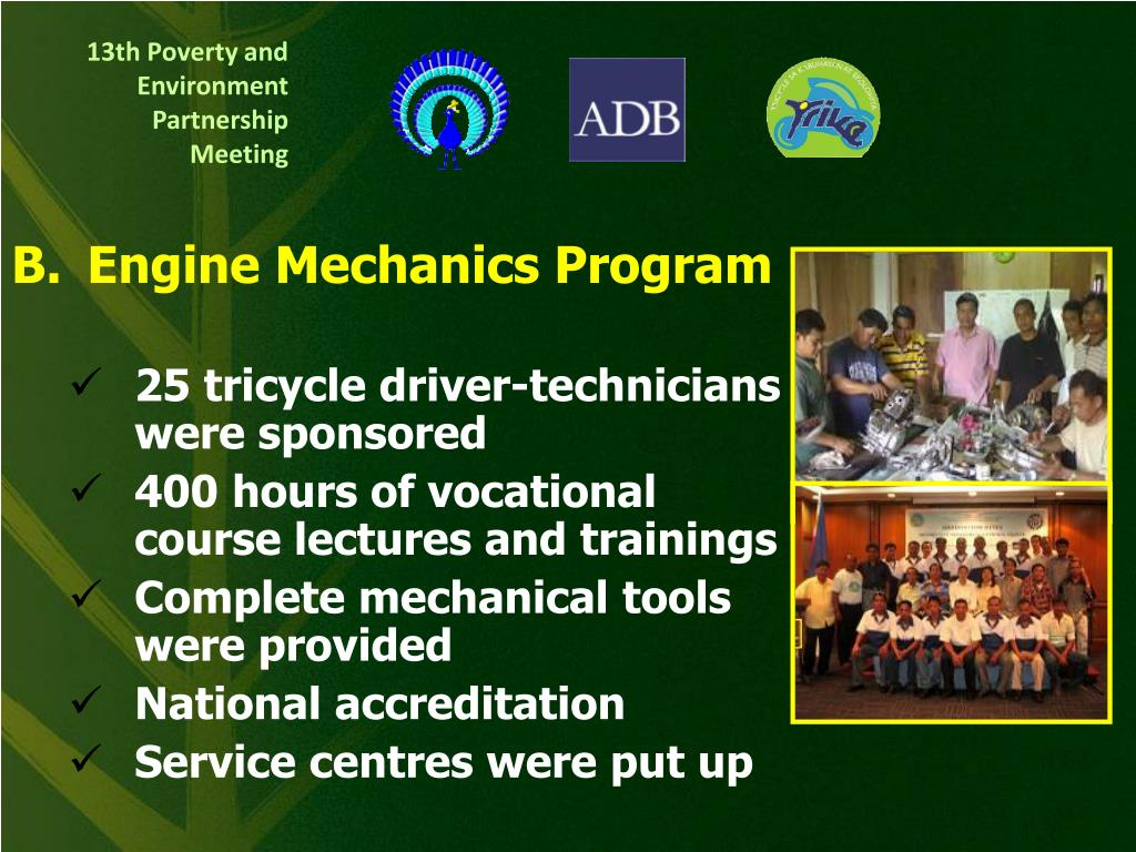 B.	Engine Mechanics Program