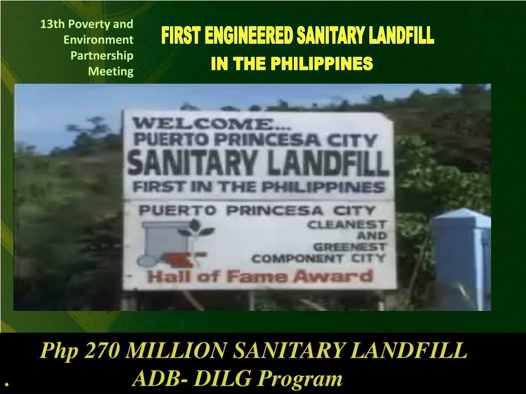 FIRST ENGINEERED SANITARY LANDFILL