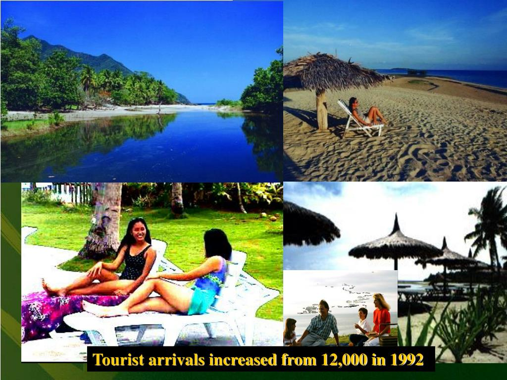 Tourist arrivals increased from 12,000 in 1992