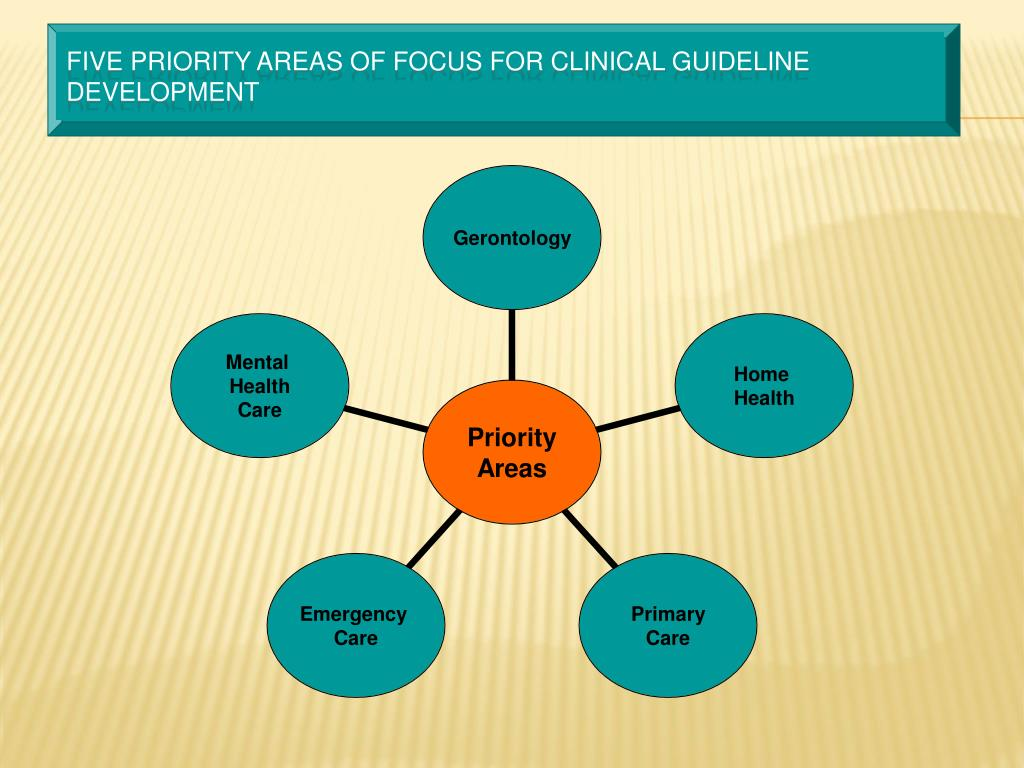 Five priority areas of focus for Clinical Guideline Development