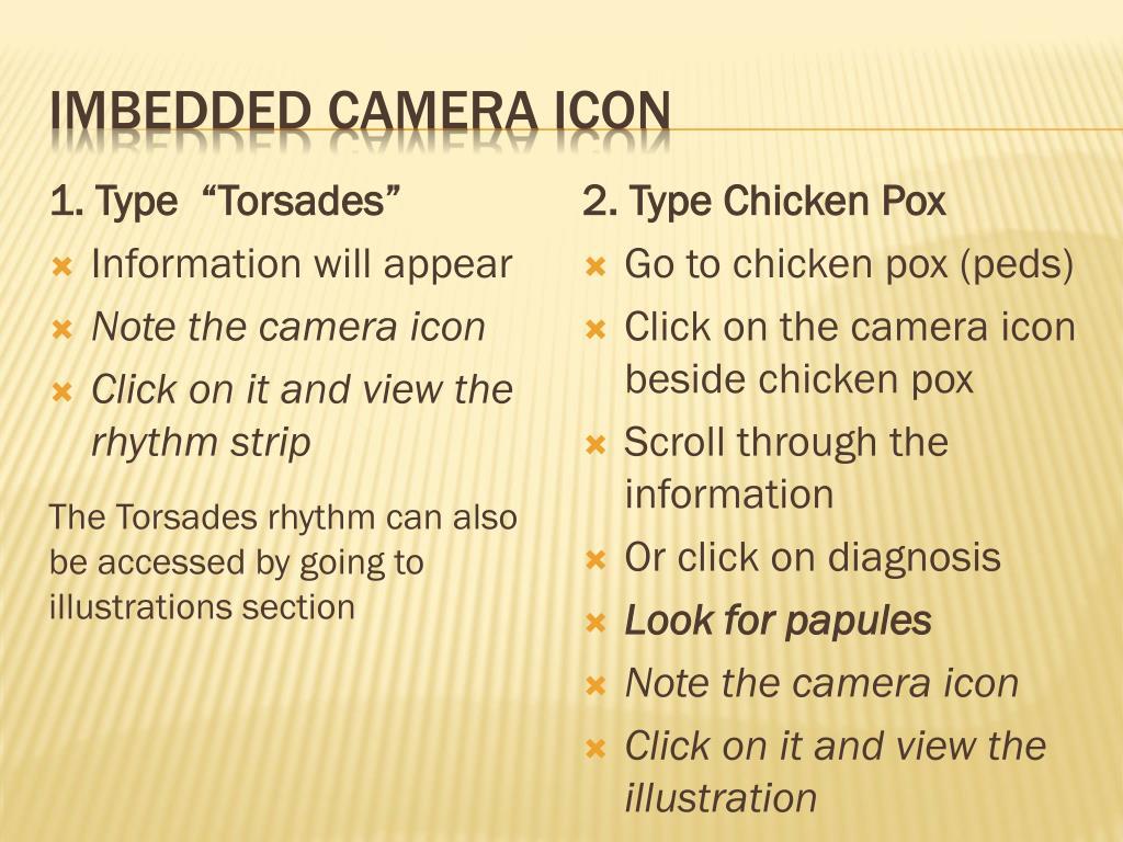 Imbedded camera icon