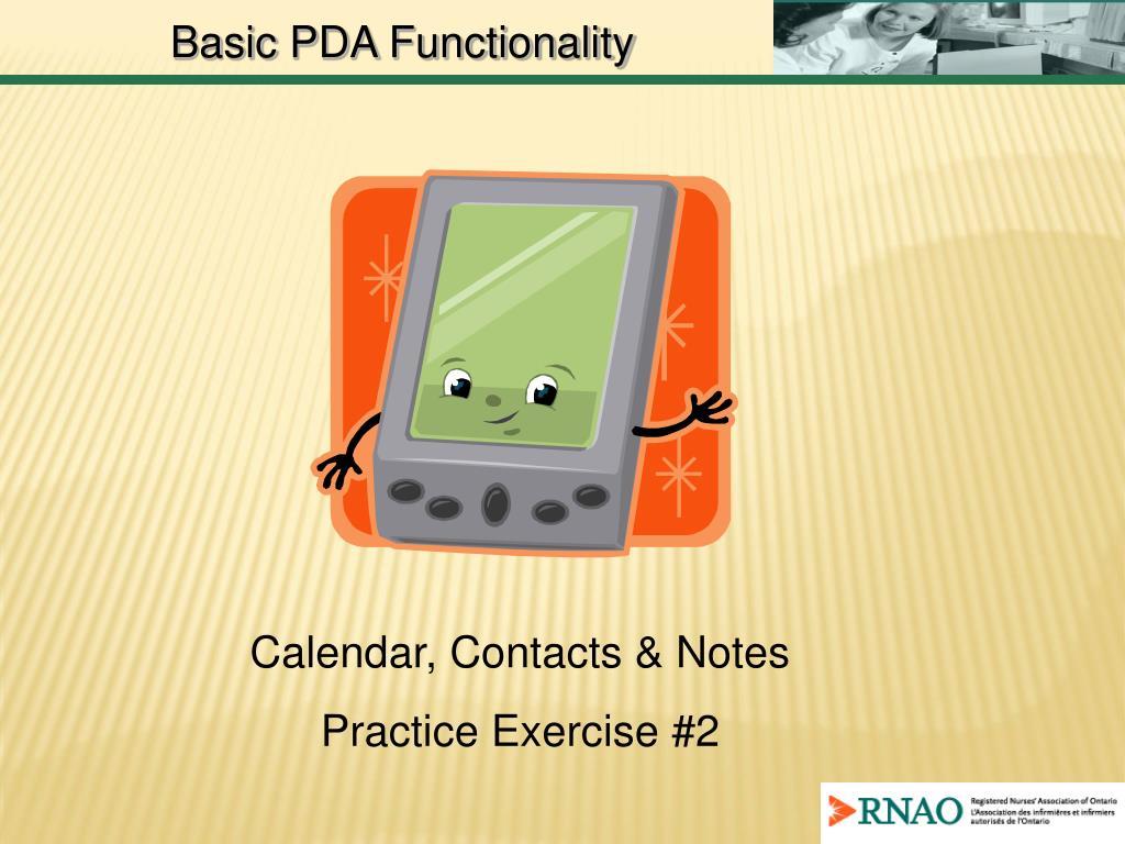 Basic PDA Functionality
