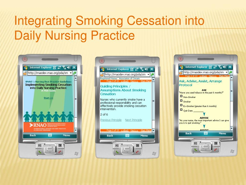 Integrating Smoking Cessation into Daily Nursing Practice