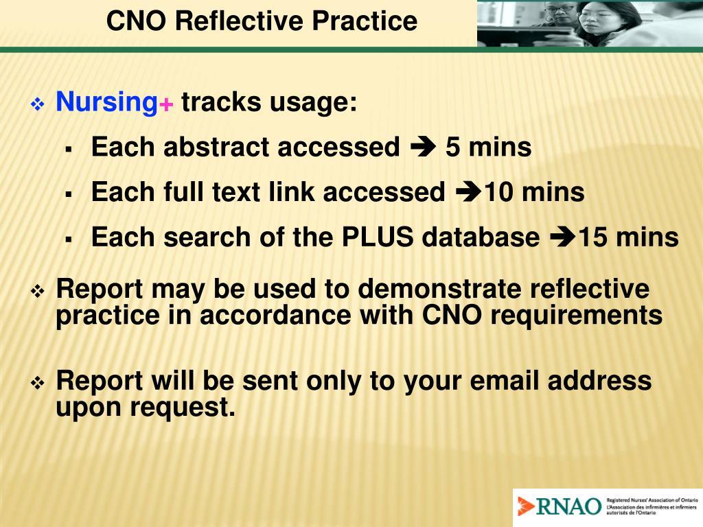 CNO Reflective Practice