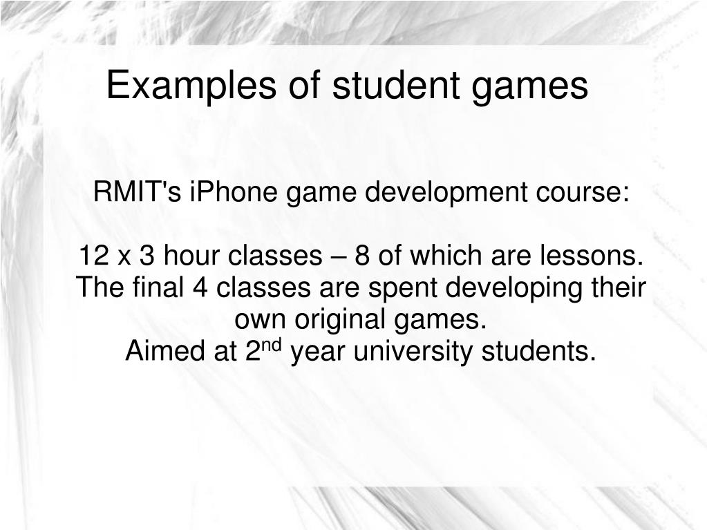 RMIT's iPhone game development course: