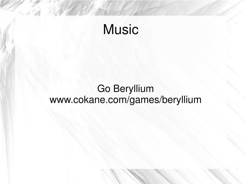 Go Beryllium