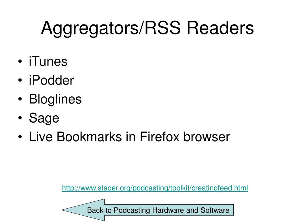 Aggregators/RSS Readers